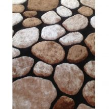 Szőnyeg, barna/fekete, 80x150, PEBBLE TYP 2
