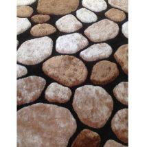 Szőnyeg, barna/fekete, 140x200, PEBBLE TYP 2