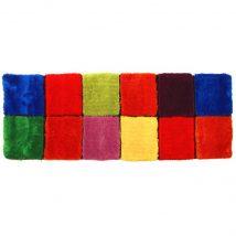 Szőnyeg, piros/zöld/sárga/lila, 70x210, LUDVIG TYP 4