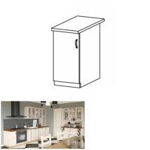 Alsó szekrény, fehér/ északi lucfenyő, bal, ROYAL D30