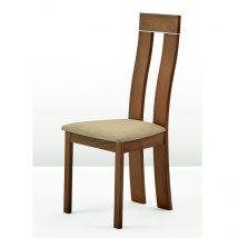 Magas étkező szék, cseresznye/barna szövet, DESI