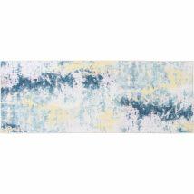 Szőnyeg szürke/sárga, 80x200, MARION TYP 1