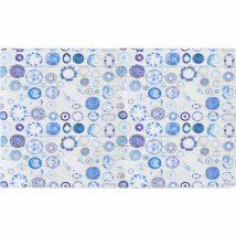 Szőnyeg kék/krém, 160x230, PARLIN