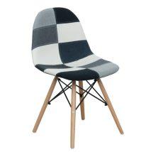 Étkező szék, fekete fehér mintás kivitelben, CANDIE NEW TYP 3