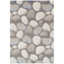 Szőnyeg, barna/szürke/kő minta, 133x190, MENGA