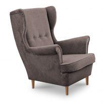 Füles fotel, bézs-szürke/bükk, RUFINO
