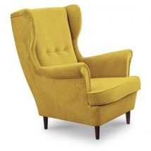 Modern fotel, 18 sárga + wenge lábak, RUFINO