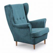 Modern fotel, 13 olajkék + bükkfa, RUFINO