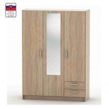 3-ajtós szekrény, tölgy sonoma, BETTY 7 BE07-001-00