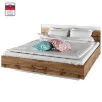 Dupla ágy, 180x200, tölgy wotan/fehér, GABRIELA