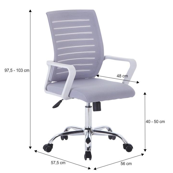 Irodai szék, fehérszürke, CAGE