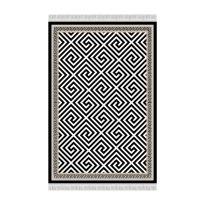 Szőnyeg, fekete-fehér minta, 80x150, MOTIVE