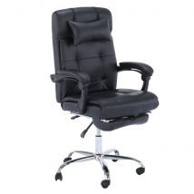 Irodai szék, fekete textilbőr PU, ARNAUD NEW