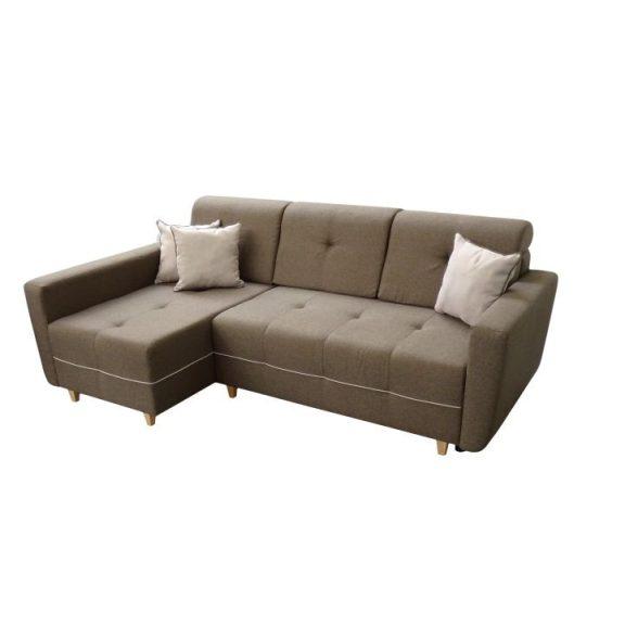 Ülőgarnitúra, barna/világosbarna, balos, HAKAN
