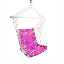 Függő fotel, rózsaszín/minta, KEROL