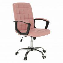 Irodai szék, rózsaszín textilbőr RULIS
