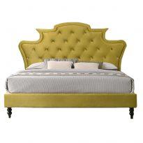 Luxuságy, arany Velvet anyag, 160x200, REINA