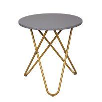Kisasztal, szürke/arany festés, RONDEL