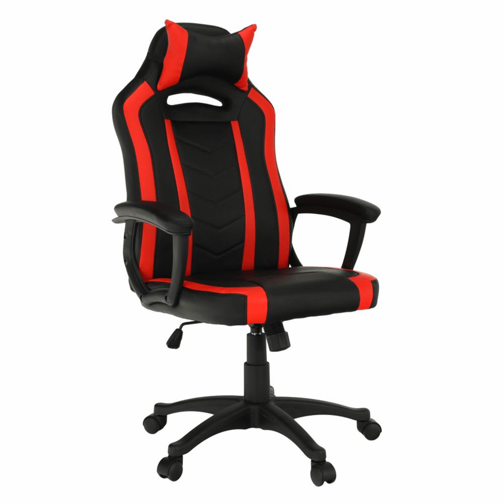 Irodai széksportos gamer szék, feketepiros, AGENA