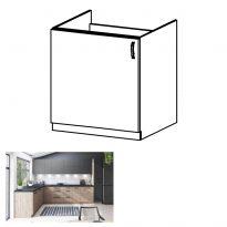 Mosogató szekrény, artisan tölgy, balos, LANGEN D60Z