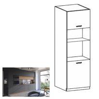 Magas szekrény, artisan tölgy/szürke matt, LANGEN D60PM