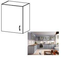 Felső szekrény, fehér/szürke matt, bal, LAYLA G601F