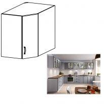 Felső szekrény, fehér/szürke matt, LAYLA G60N