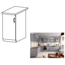 Alsó szekrény, szürke matt/fehér, bal, LAYLA D40