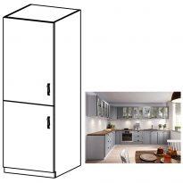 Magas szekrény, szürke matt/fehér, bal, LAYLA D60R