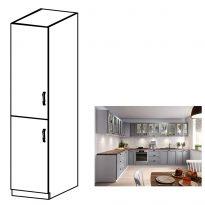 Magas szekrény, szürke matt/fehér, bal, LAYLA D40SP