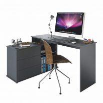 Univerzális sarok PC asztal, grafit, TERINO