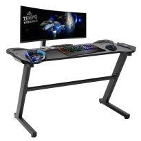 Gamer asztal, fekete, JADIS
