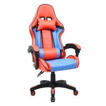 Gamer szék, kék/piros, SPIDEX