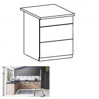 Alsó szekrény, artisan tölgy, PUSH UP,  LANGEN D60S3