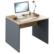 Íróasztal, grafit/tölgyfa artisan, RIOMA NEW TYP 12