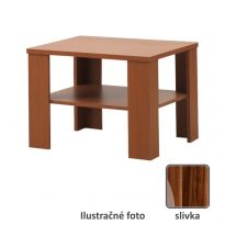 Dohányzóasztal,  kicsi, szilvafa, INTERSYS 21