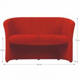 Dupla fotel, szövet piros, CUBA