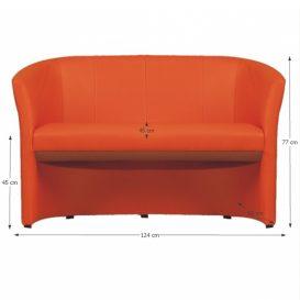 Dupla fotel, narancssárga textilbőr, CUBA