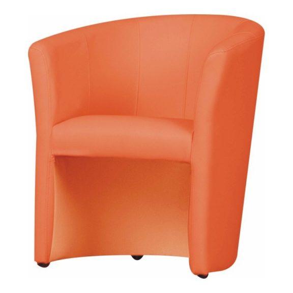 Klub fotel, textilbőr, narancssárga, CUBA