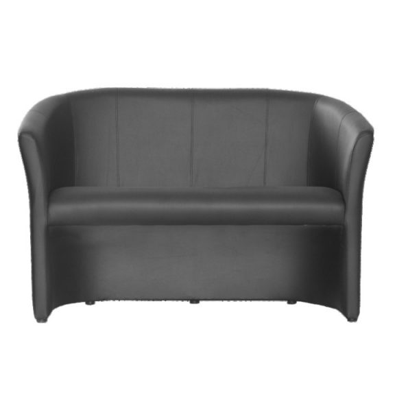 Dupla fotel, textilbőr, fekete, CUBA