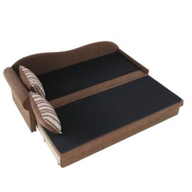 Kanapé ágyfunkcióval, barna, bal oldali kivitel, AGA D