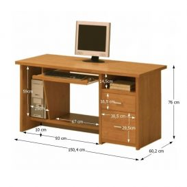 Számítógépasztal, amerikai cseresznye, OSCAR PC1