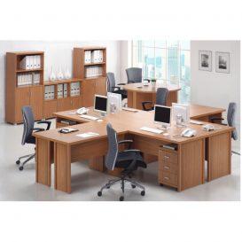 Ívelt asztal, tárgyalóterembe, cseresznyefa, OSCAR T03