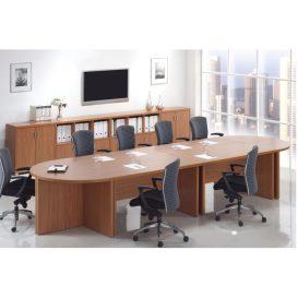 Ívelt íróasztal, tárgyalóterembe, amerikai cseresznye, OSCAR T03