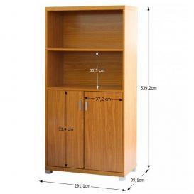 Kis szekrény alsó ajtókkal, cseresznyefa, OSCAR C03