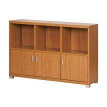 Alacsony szekrény nyitott 3ajtós, cseresznyefa, OSCAR C04