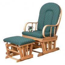 Karosszék, bükkfa, zöld szövet, RELAX GLIDER 87107