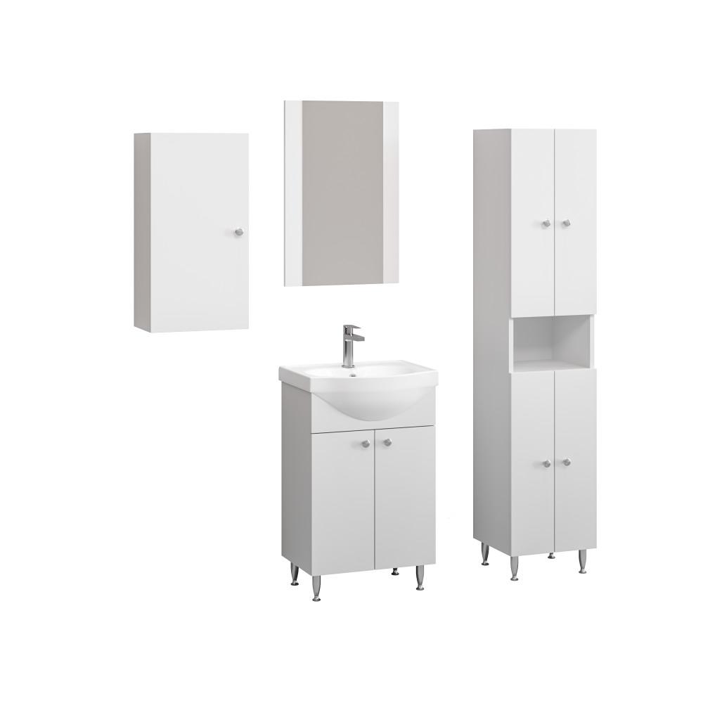 Fürdőszoba bútor szett Gilda fehér színben | Bútorpiac